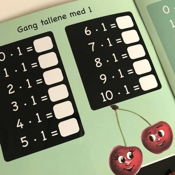 Bilde av GANGE OG DELE - Lærerike bøker med multiplikasjon