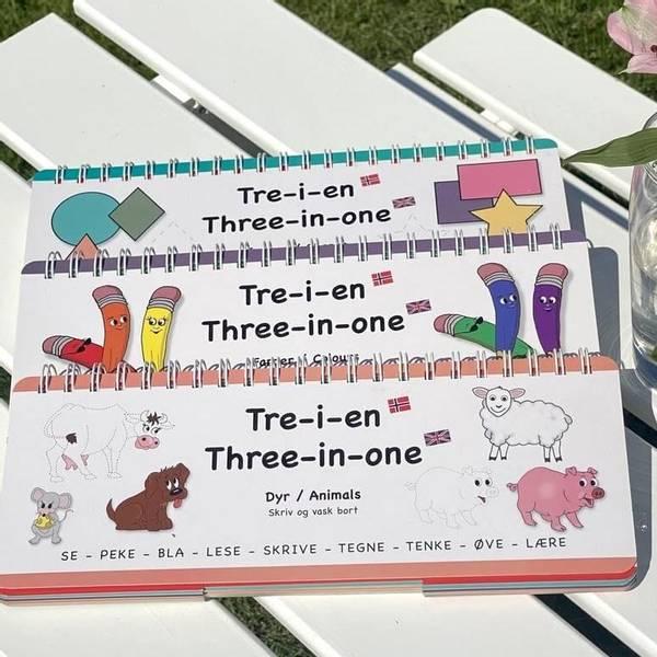 Bilde av FARGER, FORMER, DYR - 3 lærerike bøker med