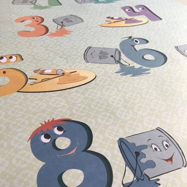 Bilde av ABC & 123 PLAKATER: Lærerikt og dekorativt til