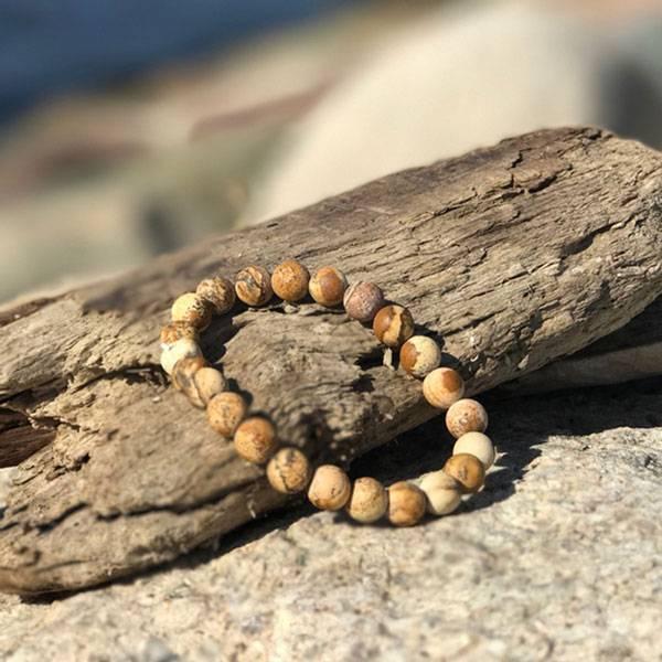 Bilde av PICTURE JASPER - Armbånd i naturstein