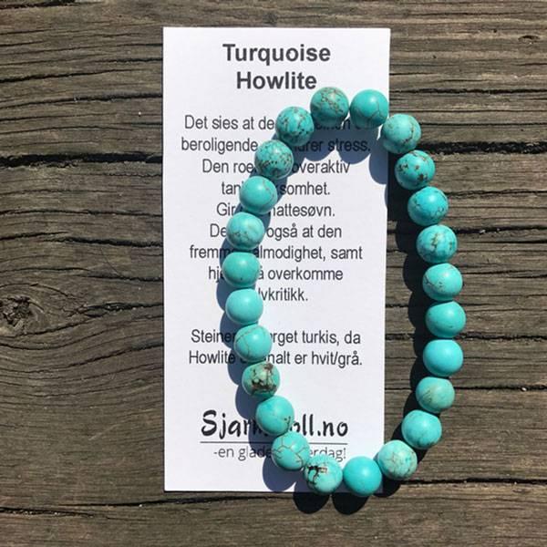 Bilde av TURQUOISE HOWLITE - Armbånd i naturstein