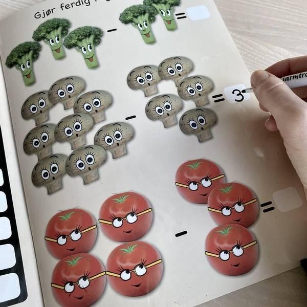Bilde av PLUSS OG MINUS - Lærerike bøker med enkle