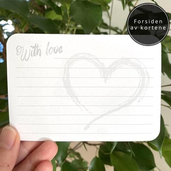 Bilde av WITH LOVE - Minneboks Med 50 Kort