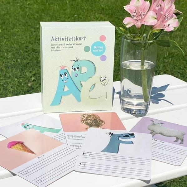 Bilde av AKTIVITETSKORT ABC - Laminerte kort med