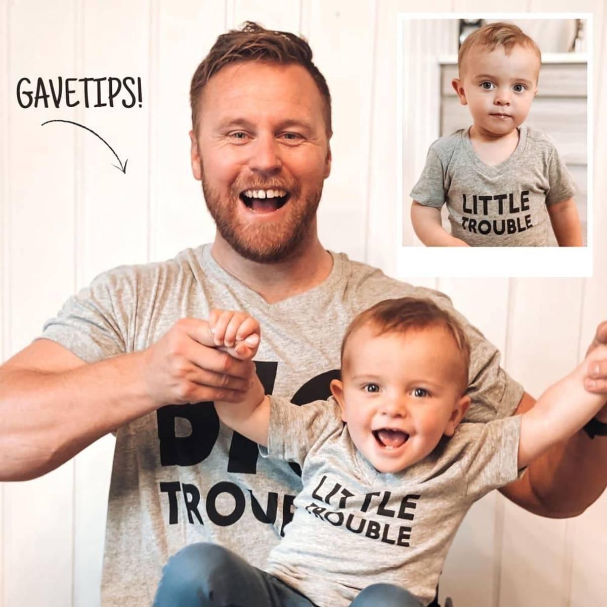 BIG TROUBLE & LITTLE TROUBLE: Matchende T-Skjorter