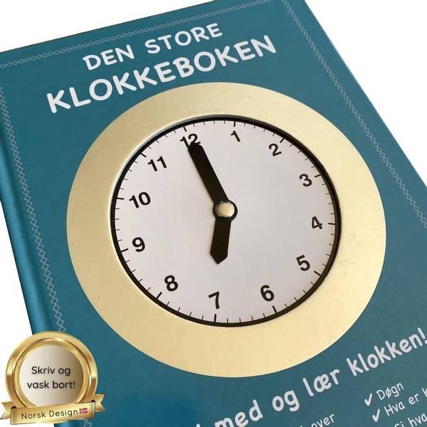 Bilde av DEN STORE KLOKKEBOKEN - Lær klokka, skriv & vask