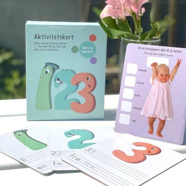Bilde av AKTIVITETSKORT 123 - Laminerte kort med tall,