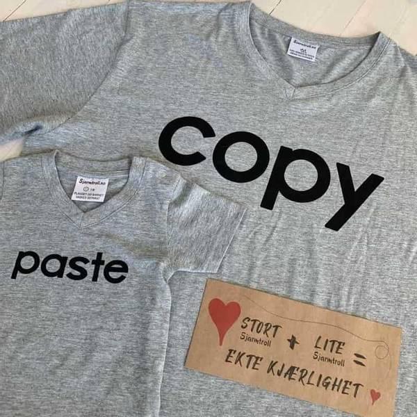 Bilde av COPY, PASTE: Matchende T-Skjorter