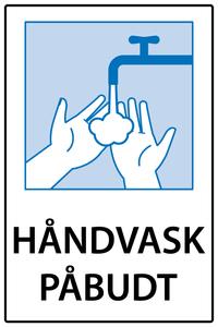Bilde av Håndvask påbudt