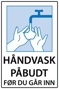 Bilde av Håndvask påbudt før du går