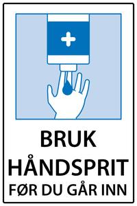 Bilde av Bruk håndsprit før du går inn