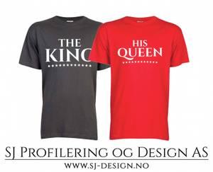 Bilde av King and Queen Tee - Sett