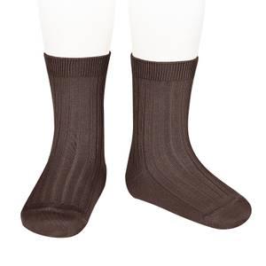 Bilde av Còndor Ribb sokk, brun.