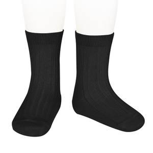 Bilde av Còndor Ribb sokk, svart.