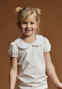 Bilde av Bruuns Bazaar Marie Louise T-skjorte, hvit.