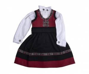 Bilde av Salto Bunad, rød kjole.