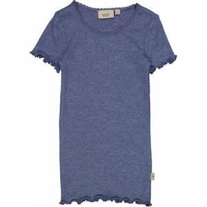 Bilde av Wheat Lace Rib T-Skjorte, Blue Melange.
