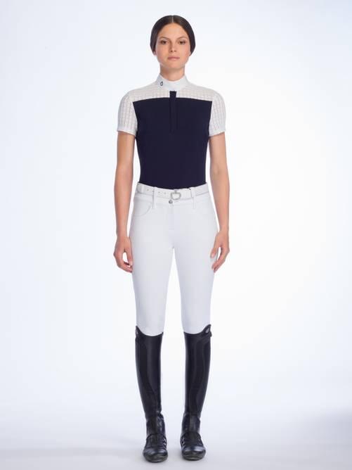 Bilde av Cavalleria Toscana Crochet + Jersey Stevneskjorte