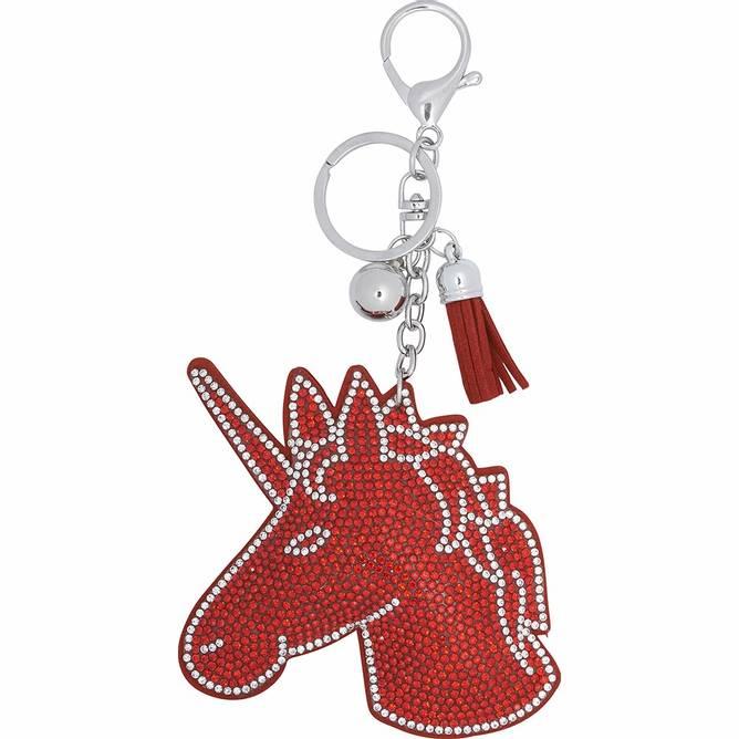 Bilde av Equipage Unicorn nøkkelring rød