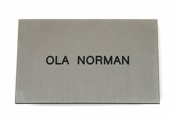 Std postkasseskilt Sandbergkassen, radient sølv plate