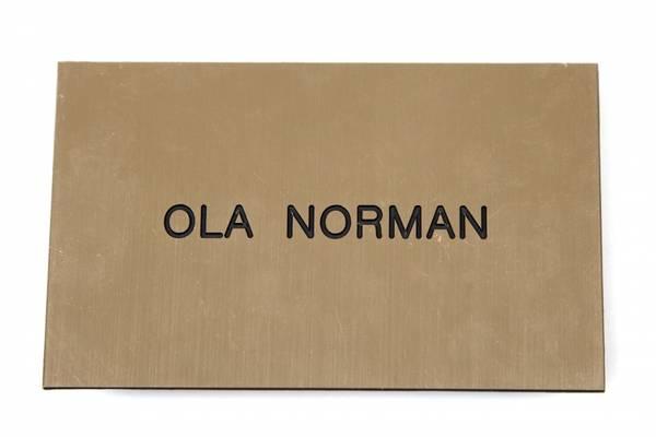 Std postkasseskilt Sandbergkassen, radient gull plate