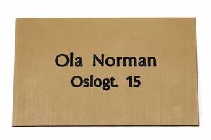 Bilde av Postkasseskilt m/ dobbeltsidig tape, radient gull