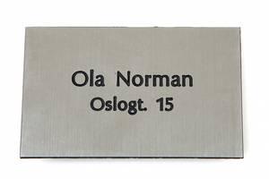 Bilde av Postkasseskilt m/ dobbeltsidig tape, radient sølv