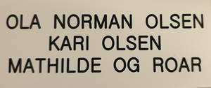 Bilde av Std postkasseskilt Sandberg GT (Gml mod.), hvit plate med