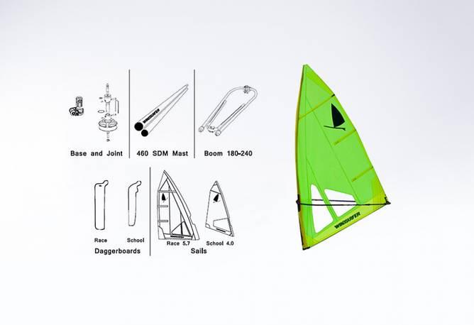Bilde av Starboard Windsurfer Rig set