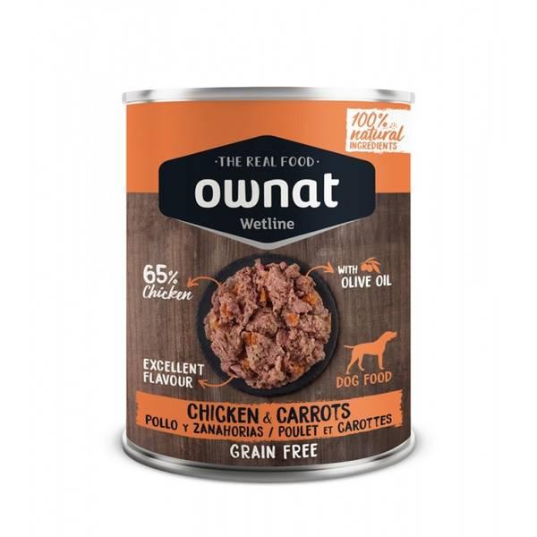 Bilde av OWNAT WETLINE Kylling med gulrøtter (HUND) 400g
