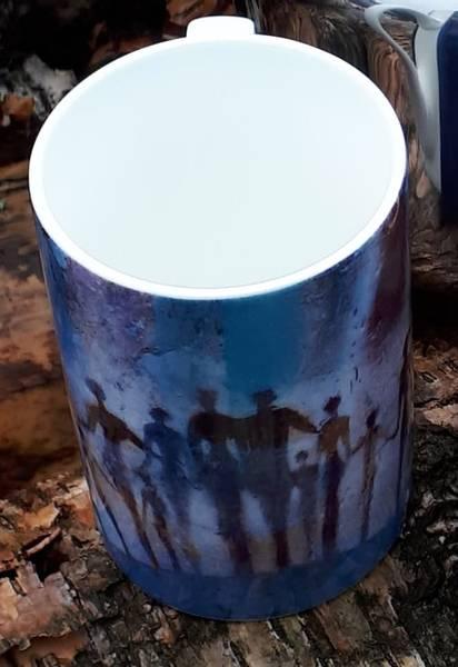 Bilde av Kunstnerisk glass kopp blå