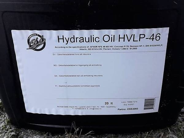 Bilde av HV 46 HYDRAULIKKOLJE ISO 46 ink olje avgift 20