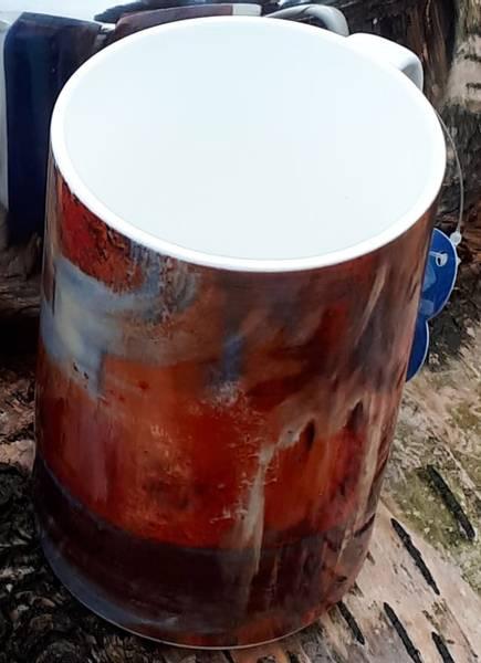 Bilde av Kunstnerisk glass kopp rød