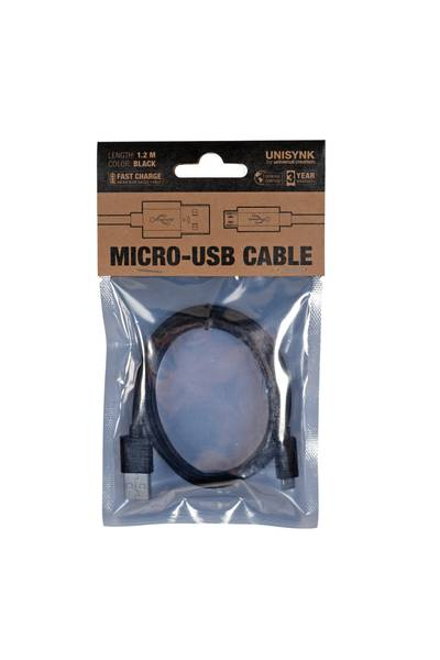 Bilde av Micro-usb kabel 2.0 1.2m svart