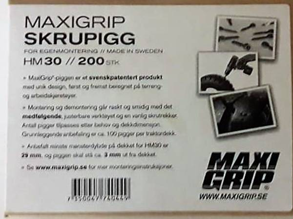 Bilde av Maxi grip hardmetall 200stk 30 mm