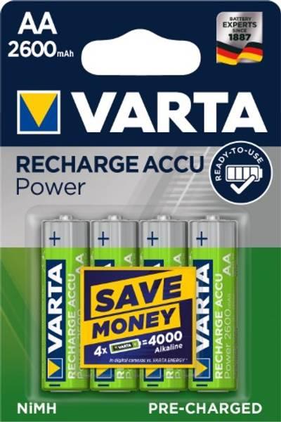 Bilde av Batteri ladbart AA 2400 mAh