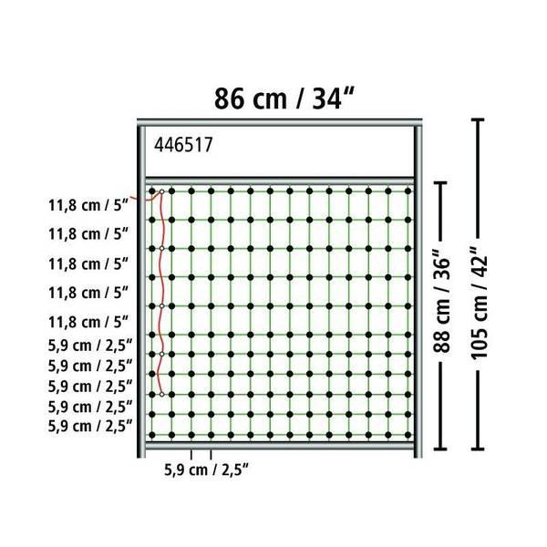 Bilde av Port til strømførende netting høyde 90 cm
