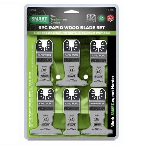 Bilde av SMART 6 bladers sett Rapid Wood 32 og 63 mm