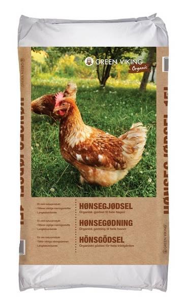 Bilde av Hønsegjødsel Natur 15L Green Viking Organic
