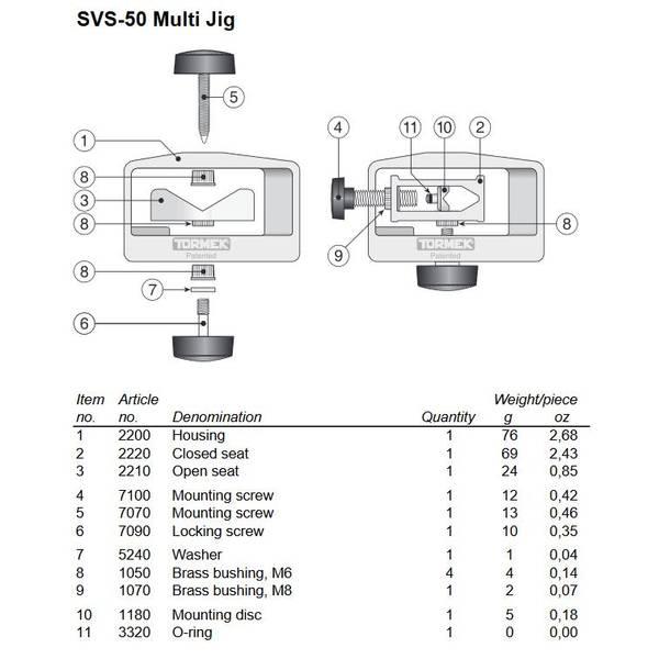 Bilde av Tormek SVS-50 Multi slipejigg