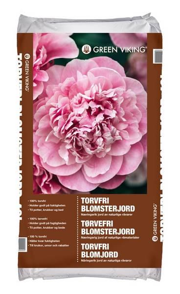 Bilde av Blomsterjord Torvfri 40L Green Viking