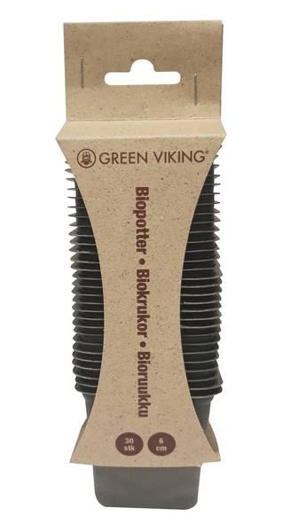 Bilde av Biopotte 6cm firkantet grønn 30 potter/pk Nelson