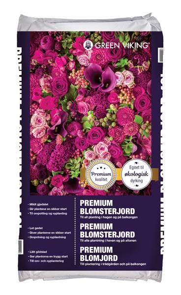 Bilde av Blomsterjord Premium 40L KRAV Green Viking