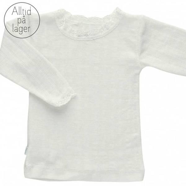 Bilde av Joha - Trøye i ull/silke med blonder Off-white