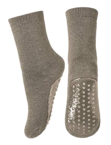 Bilde av MP - Antiskli sokker/tøfler i ull  Brown Melange