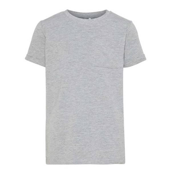 Bilde av Name It - T-skjorte Gutt Basic Grey Melange