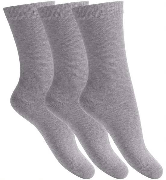 Bilde av Melton - Sokker i bomull 3pk Light Grey Melange