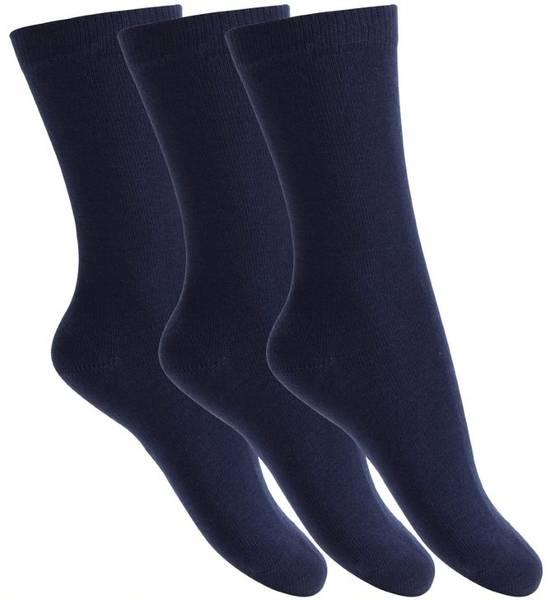 Bilde av Melton - Sokker i bomull 3pk Marine