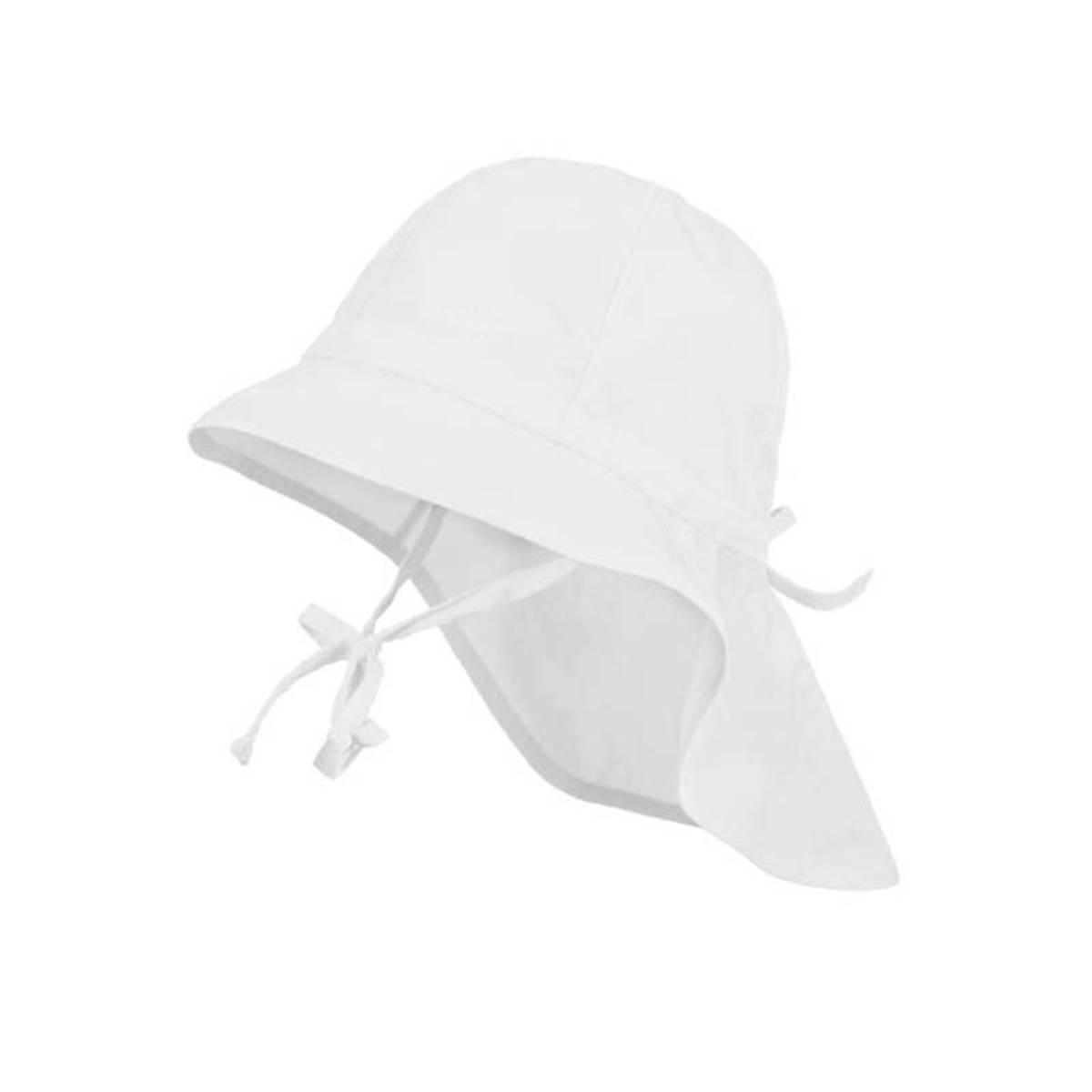 Maximo - Solhatt med nakkebeskyttelse og UV 30 Hvit
