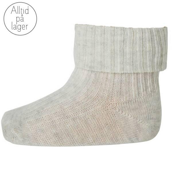 Bilde av MP - Sokker i bomull natur melert